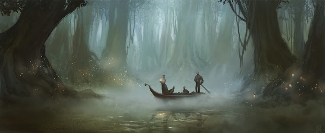 Guiding light on the bayou by Roberto Robert