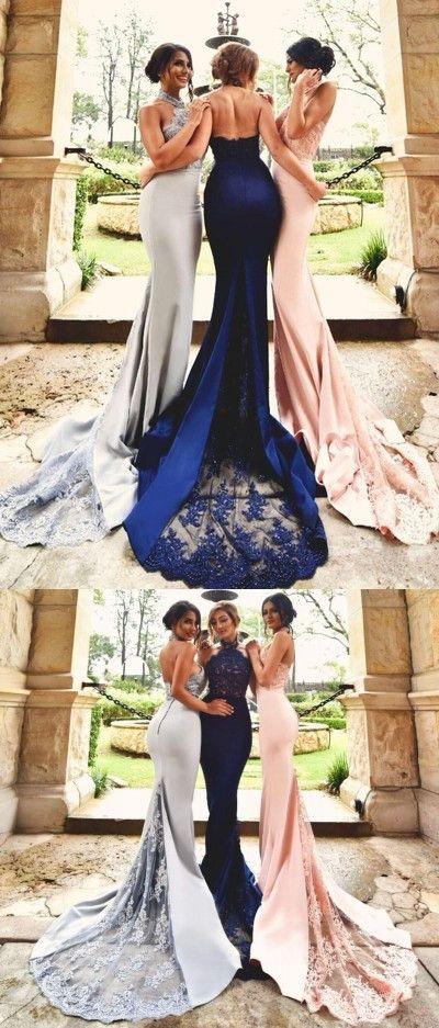 long bridesmaid dress, mermaid bridesmaid dresses, 2017 bridesmaid dresses, pink bridesmaid dresses, royal bridesmaid dresses, grey bridesmaid dress, elegant long mermaid prom dress 2017