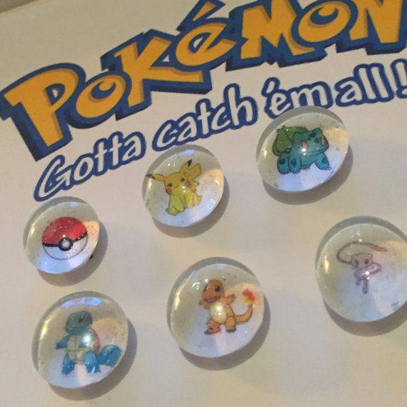 Pokemon Magnets Set of Six Mini-Magnets by MerakiBottegaCo