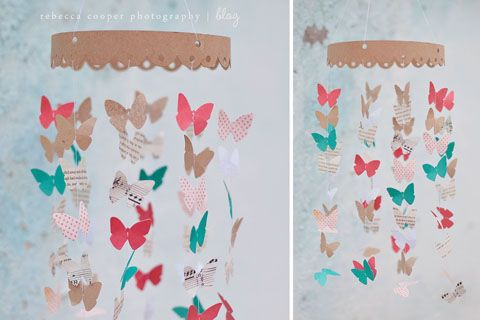 Cute butterfly mobile #crafts #easy #diy