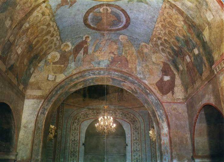 Успенский собор во Владимире. Страшный Суд. Общий вид росписи западной части среднего нефа