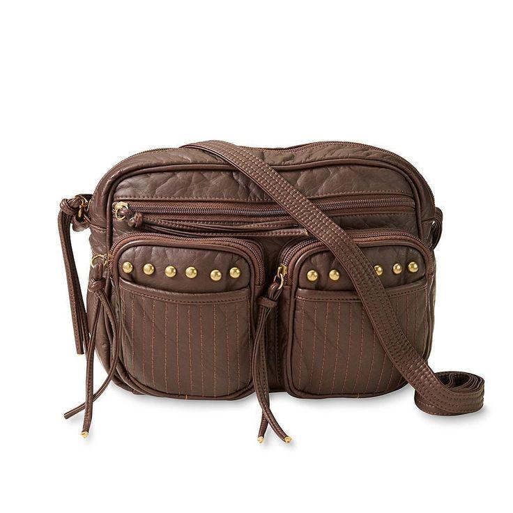NEW Joe Boxer Women's Brown Crossbody Shoulder  Camera Bag Purse 10x8x3 7 pocket #JoeBoxer #CrossbodyShoulderBag