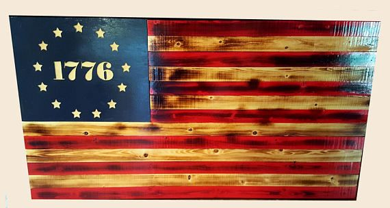 Betsy Ross Wood Flag American Flag Made By Vet Wall