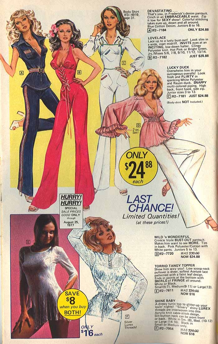 Kinda loving the overalls!   1977 Catalog.   #style  #vintage ads