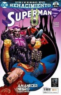 Concluye Amanecer negro. ¡Superman contra Superboy! ¡Padre contra hijo! En esta entrega especial, Jon descubre nuevas habilidades que parecen obligarle a traicionar a su mismísimo padre. ¿Quién es el verdadero villano de esta historia, capaz de separar a la Superfamilia?
