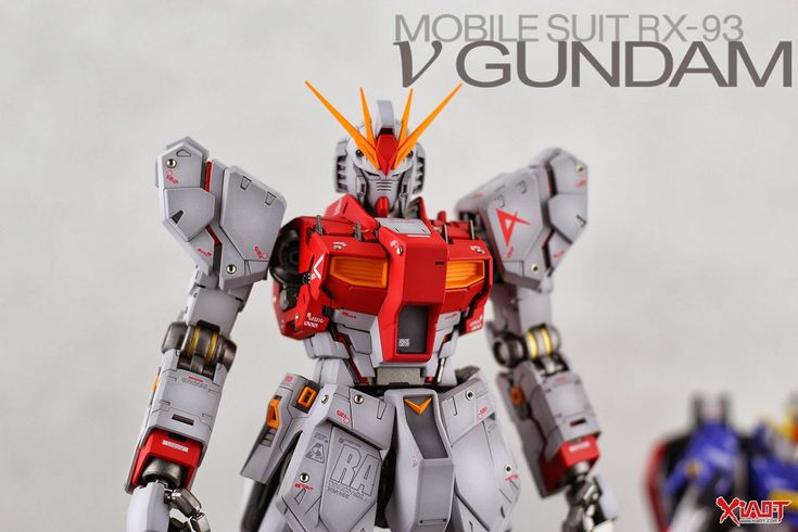 MG 1/100 RX-93 Nu Gundam Ver.Ka 'Red Psycho Frame' - Painted Build   Modeled by Jon-K