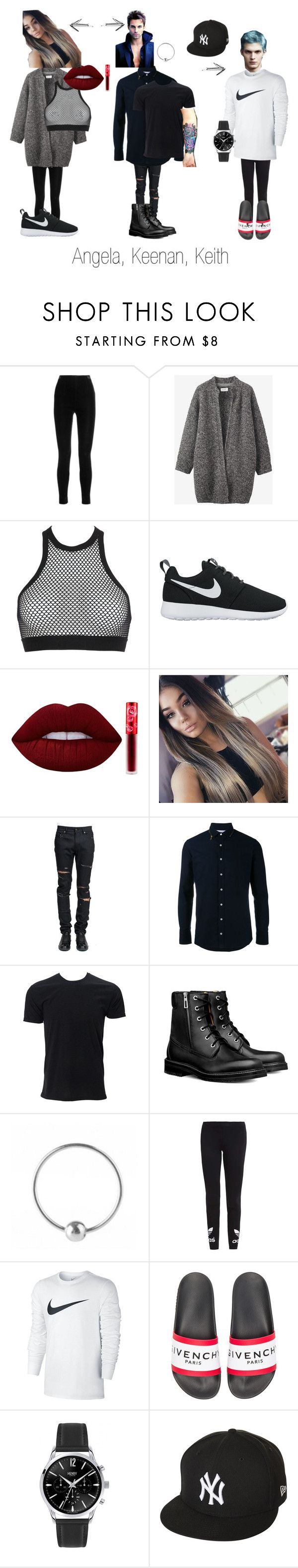 """GOBB characters"" by kristenkelly09 on Polyvore featuring Balmain, Toast, Dsquared2, NIKE, Lime Crime, Yves Saint Laurent, Kolor, Urbiana, Moreau and adidas Originals"