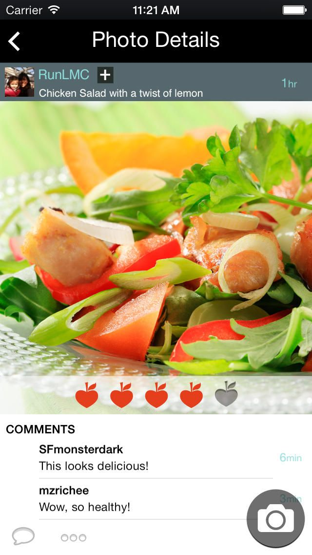 ... Pic Healthy - Photo Food Diary App to Share Photos of your Food and Meals, ...
