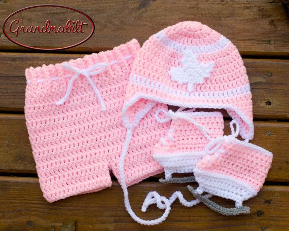 Toronto Maple Leafs Baby Girls Pink and White by Grandmabilt, $71.00