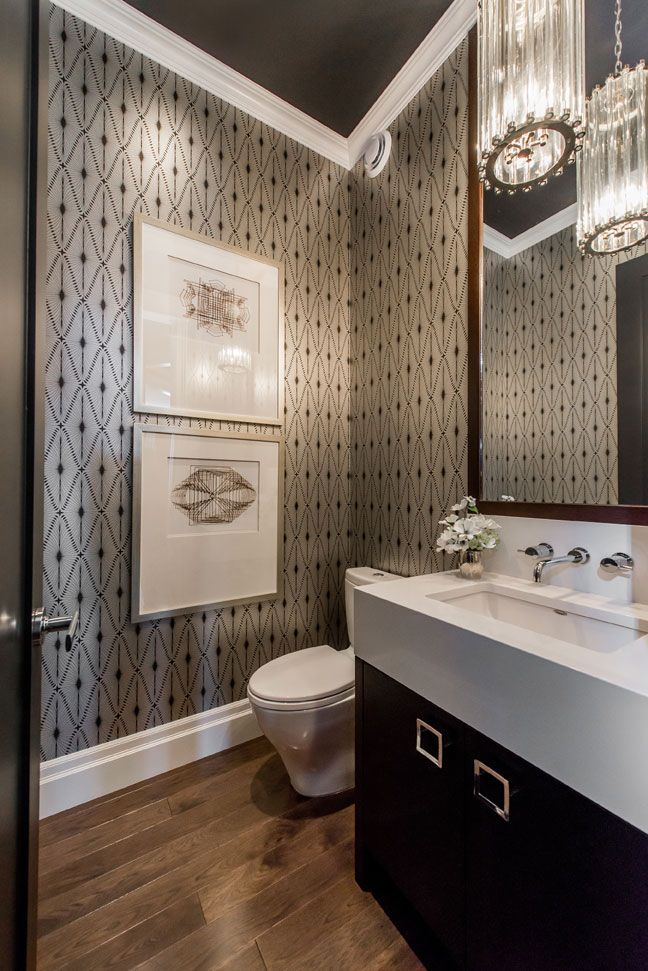 POWDER ROOM // Atmosphere Interior Design | Saskatoon