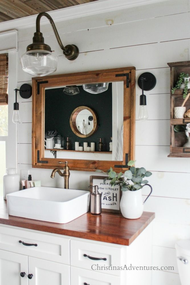 vintage inspired farmhouse bathroom decor for spring and summer rh pinterest com
