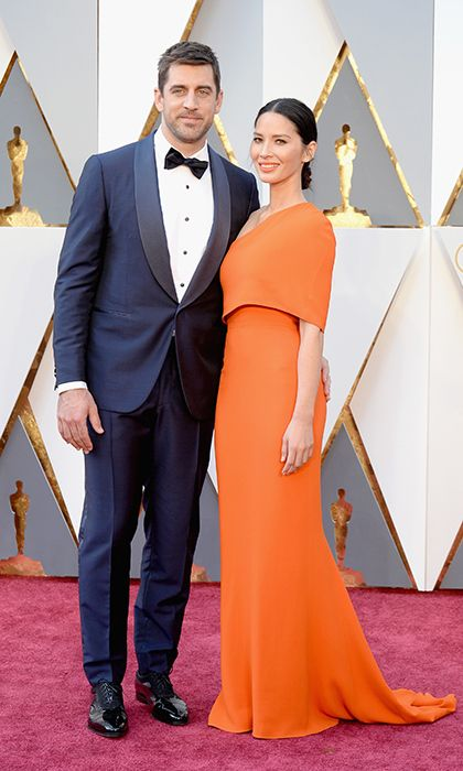 Aaron Rodgers and Olivia Munn.