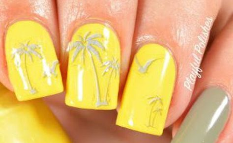 17 Trendy Yellow Nail Art Designs For Summer 7 Lovely Yellow Nail