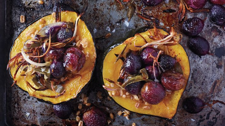 Scoop out the squash seeds and roast them for a nutritious snack.