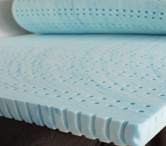 "3"" Liquid Gel Infused Memory Foam Topper - Extra Long Twin Dorm Bedding Dorm Essentials"