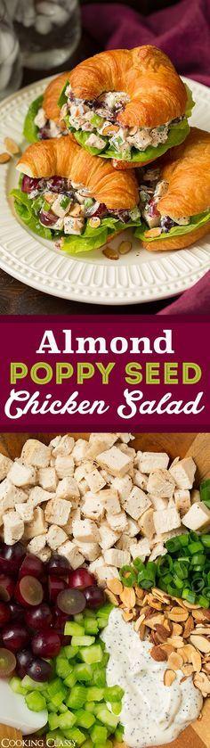 Ensalada de pollo con semillas de amapola y almendras: ¡una de mis recetas favoritas de ensalada de pollo! Amor…   – recipes