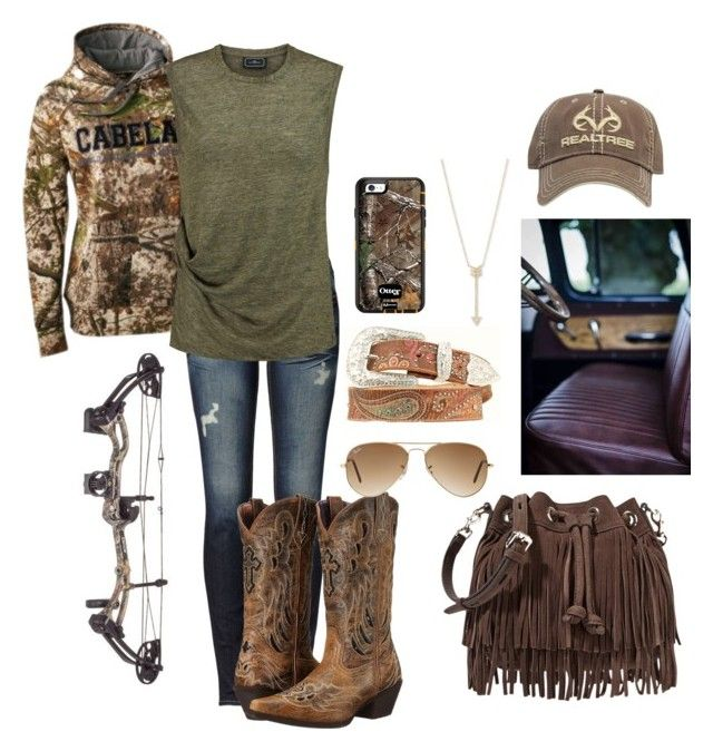 """""""doin some practicing!"""" by nk12doglover ❤ liked on Polyvore featuring True Religion, By Malene Birger, Laredo, Rebecca Minkoff, Ray-Ban, EF Collection, Realtree and Nocona"""