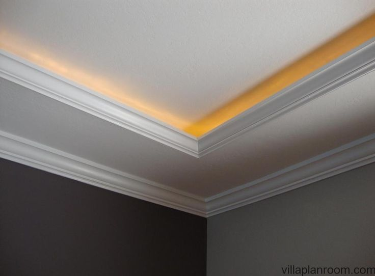 Crown molding lighting diy this is the lighting i want on for Crown molding bedroom ideas