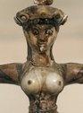 Snake Goddess, faience figurine from Knossos, detail  Snake Goddess, faience figurine from Knossos