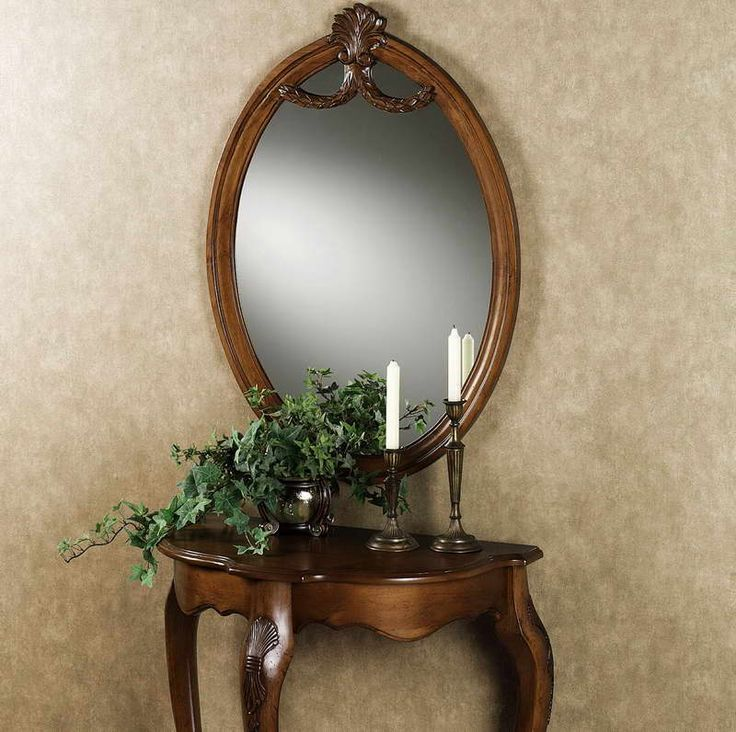 Raphael Wood Console Table And Mirror