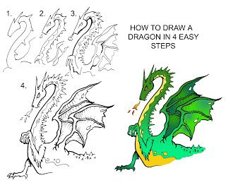 how to draw an amazing dragon