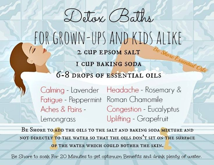 essential oils for detox baths.  Detox Baths are the best! Be sure to drink plenty of water after.