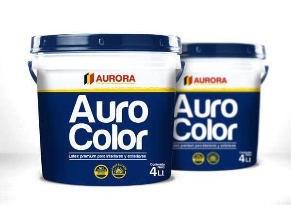 Packaging Pinturas Aurora by Miltord barrera, via Behance