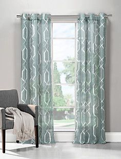 (One Panel) Neoclassical Geometric Grommet Top Curtain – EUR € 17.18