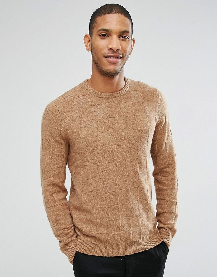 Get this Asos's knit pullover now! Click for more details. Worldwide shipping. ASOS Lambswool Rich Jumper with All Over Texture in Camel - Brown: Jumper by ASOS, Midweight wool-rich knit, Wool-rich fabric, Crew neck, Regular fit - true to size, Machine wash, 80% Wool, 20% Nylon, Our model wears a size Medium and is 185.5cm/6'1 tall. ASOS menswear shuts down the new season with the latest trends and the coolest products, designed in London and sold across the world. Update your go-to garms…