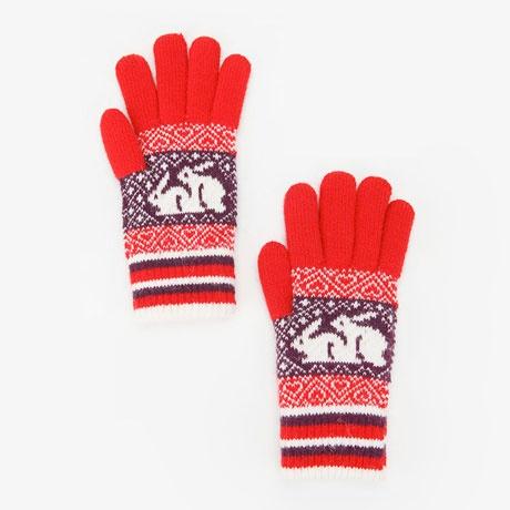 naughty fair isle gloves