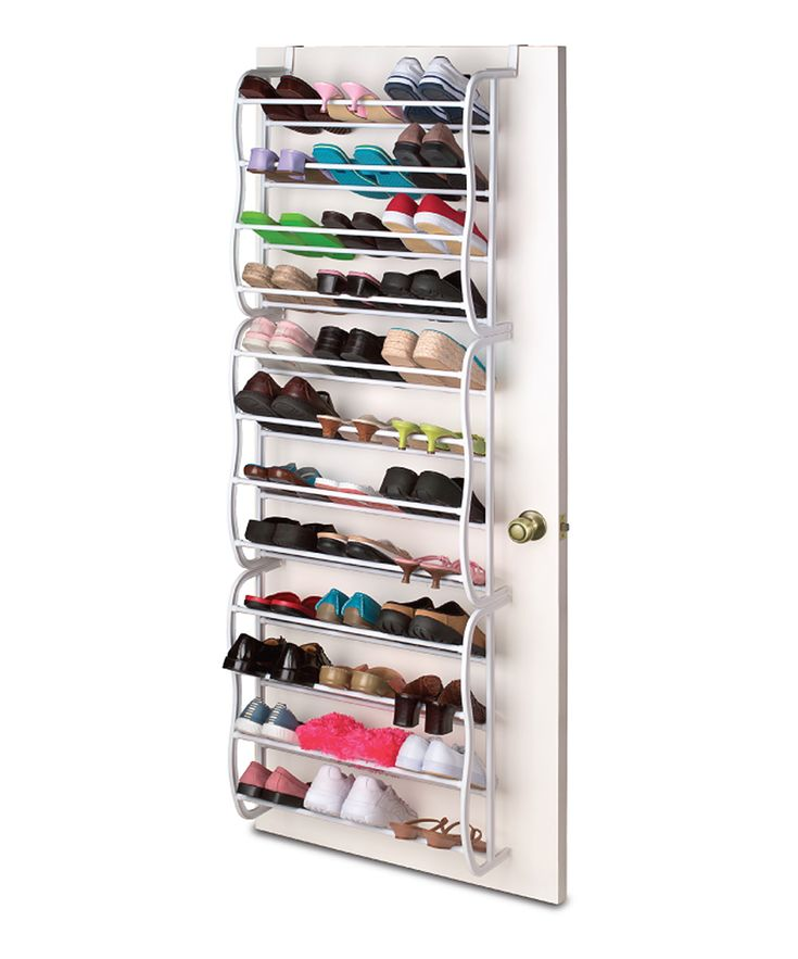 Turn A Jumbled Mess Into A Well Kept Closet With This Savvy Shoe Organizer.  Just Hang The Hooks Over Any Standard Size Door To Keep Up To 36 Pairs Off  The ...