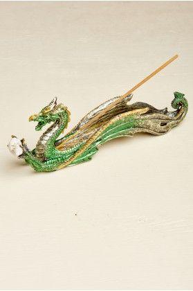 Green Resin Dragon Incense Burner - Earthbound Trading Co.