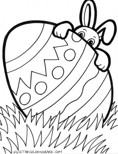 Free Printable Easter Eggs Coloring Pages: