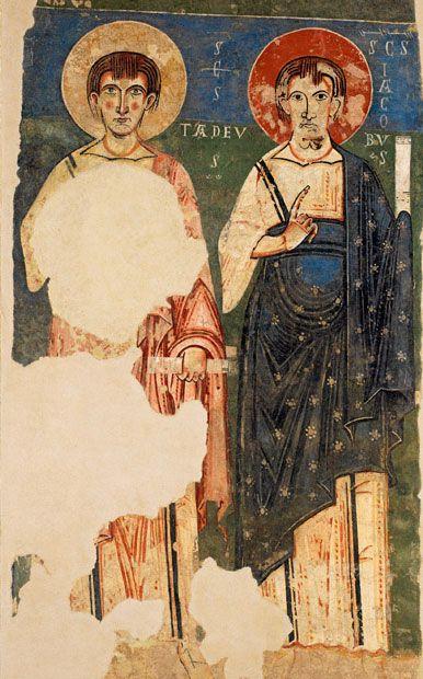 Les apôtres Jude et Jacques (art roman de Catalogne, fin XIe siècle)