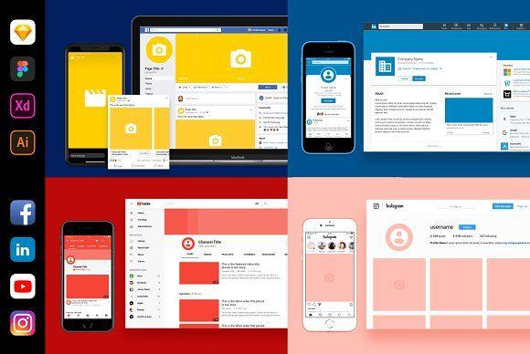 Social Media Branding Kit By Vitor Heinzen On Creativemarket Mockups And Scene Creators Social Media Branding Social Media Template Social Media Design
