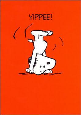 Snoopy yippee happy congrats congratulations fun