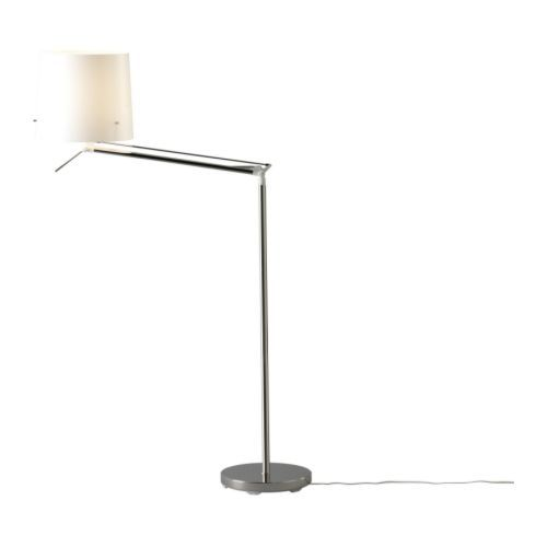 IKEA - SAMTID, Floor/reading lamp with LED bulb, Gives both directed and diffused light.Diffuser makes the light more agreeable for the eyes.Tilt the lamp the way you like it, thanks to the adjustable arm.
