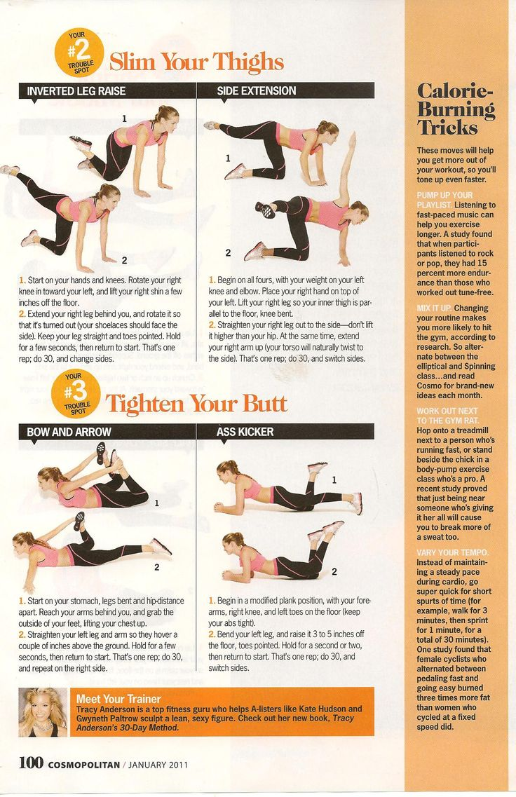Find Part 1 of this easy target workout, by Tracy Anderson, at the source :)