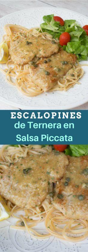 Receta de Escalopines de Ternera o Pollo en Salsa Piccata. Pastas Italianas.