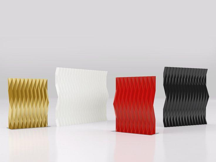 Divisória de metal PLISSE' Coleção arlecchino by altreforme | design Moschino S.p.A.