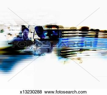 photo art blurred images | Stock Illustration of Blurred images of wire & people's faces ...