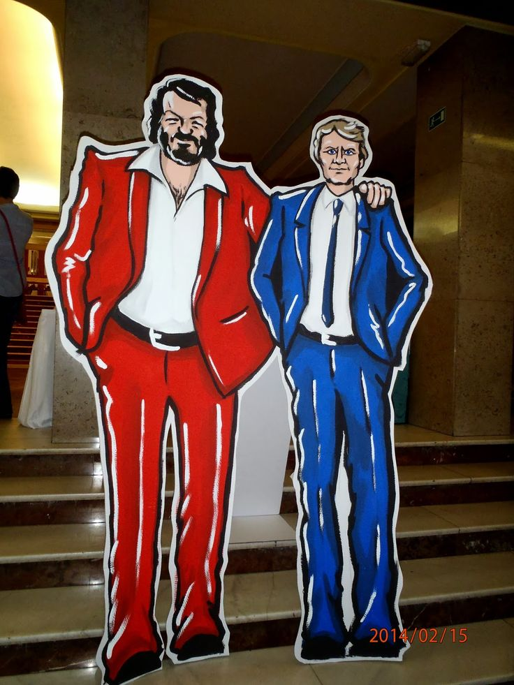 bud spencer, terence hill, hand made scenery