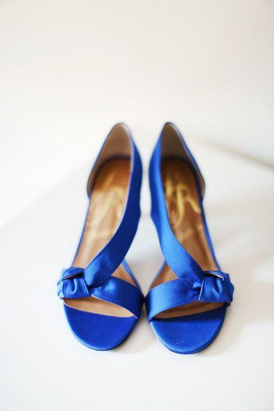 Blue Bridal Shoes Idea