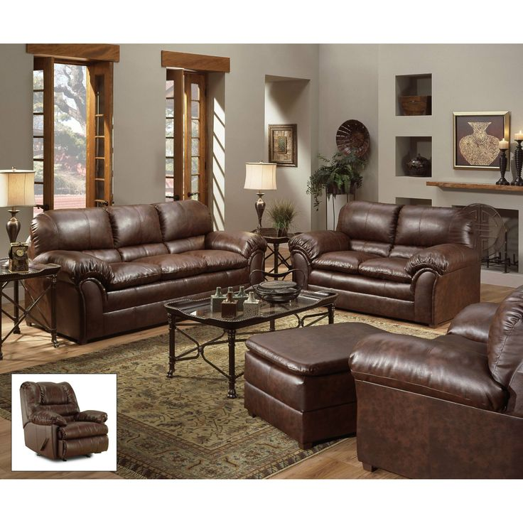 FurnitureMaxx Geneva Mahogany Leather Looking Dark Cherry Sofa Made In USA Sofas Casual Living RoomsCozy RoomsLiving Room ChairsLiving