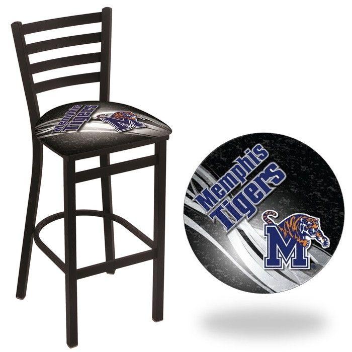 Memphis Tigers D2 Stationary Ladder Back Bar Stool. Visit SportsFansPlus.com for Details.