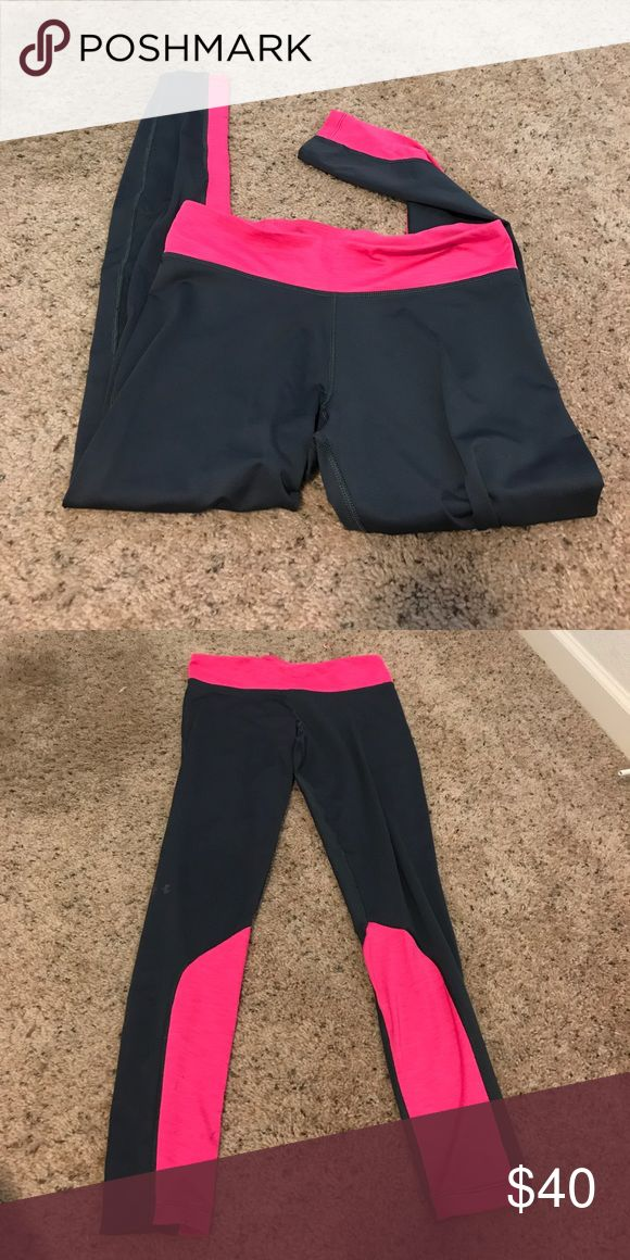 Under Amor Heat leggings! These are great leggings for when it's cold. Fleece lined and sooo comfy!! And cute pink detailing on the legs 🦄 Under Armour Other