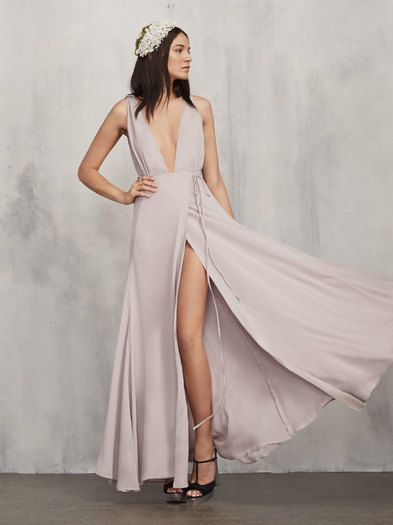 Be a real friend. Don't make your bridesmaids wear a gross dress. The Sophia Dress is something they can actually feel good in, and more importantly, wear again. https://www.thereformation.com/products/sophia-dress-waterlily?utm_source=pinterest&utm_medium=organic&utm_campaign=PinterestOwnedPins