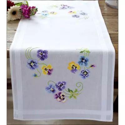 Les plus belles violettes - Chemin de table à broder - Vervaco