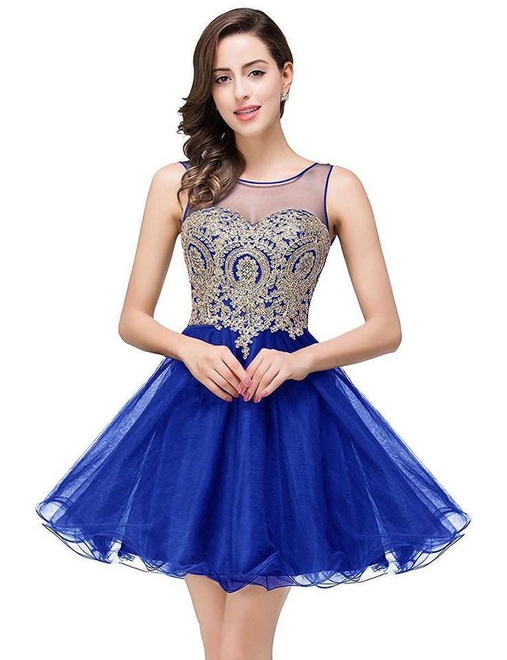 Short Homecoming Dress Hand Beaded Prom