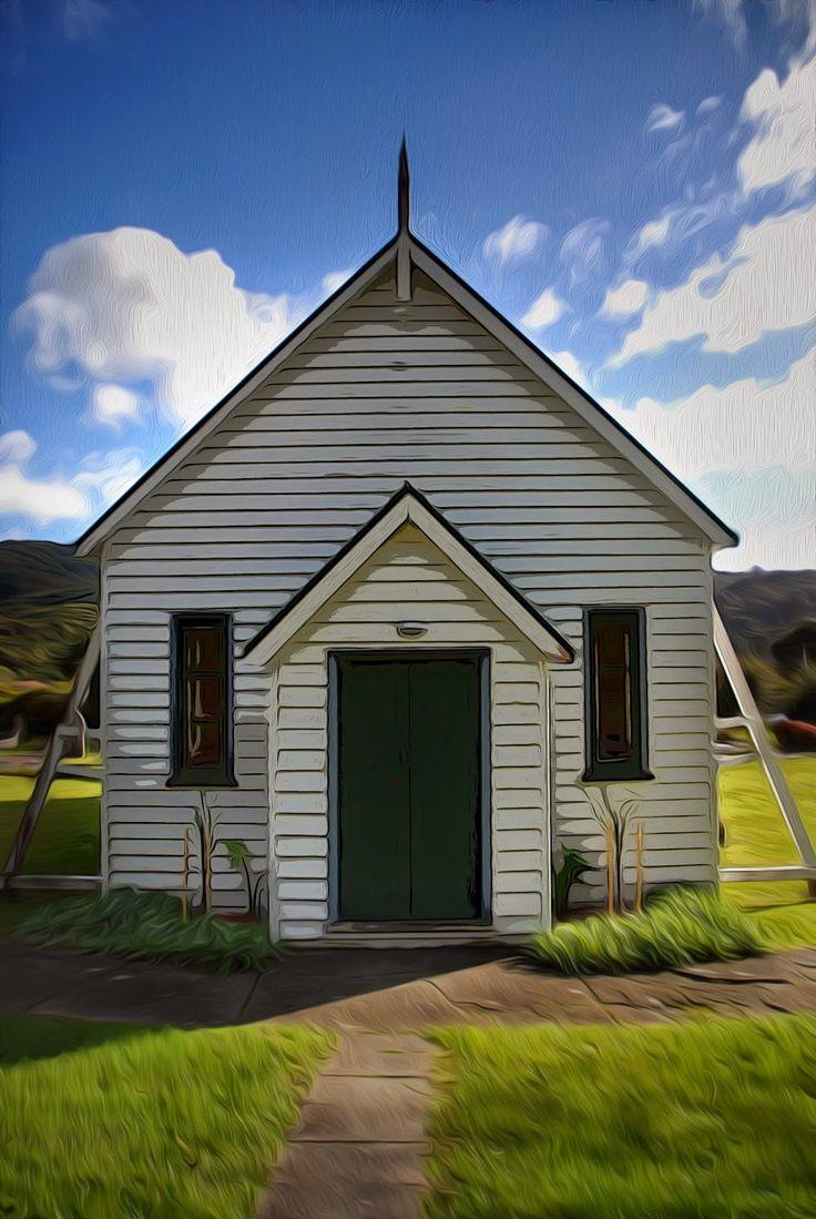 Old Coast Road Church in Wainuiomata with a little photoshop treatment.